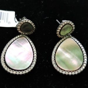 Saks Black Mother of Pearl earrings